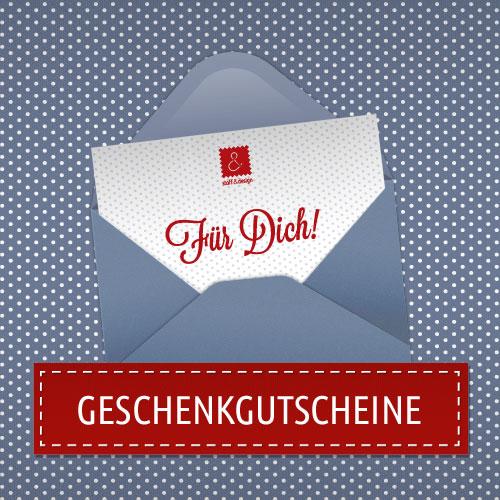 Stoff und Design Geschenkgutschein